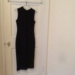 Shoshanna black lace dress
